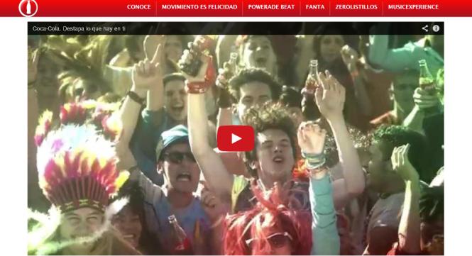 Coca-Cola España, donde el vídeo muestra un fotograma llamativo, pero sin dar explicaciones acerca del mismo